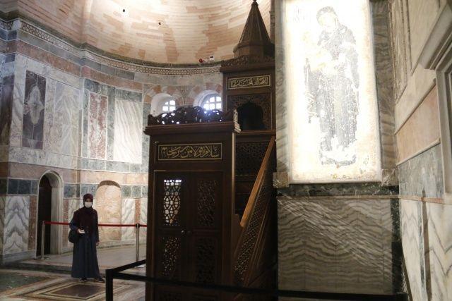 Kariye Camii'nde hazırlıklar tamamlanmak üzere