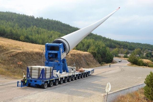 65 metre uzunluğunda 18 ton ağırlığında, böyle taşındı