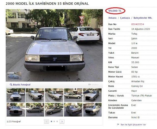 İlanları gören şoke oldu! 20 yaşını geçmiş araçlara öyle bir fiyat istediler ki...