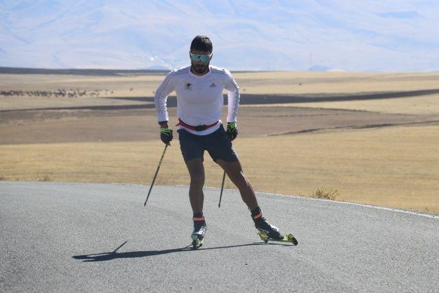 Asfalt kaplama köy yollarında antrenman... Hedef olimpiyat!