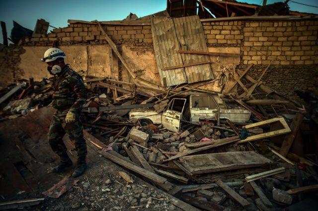 Ermenistan'ın Gence'ye füze saldırısının şiddeti gün ağarınca ortaya çıktı