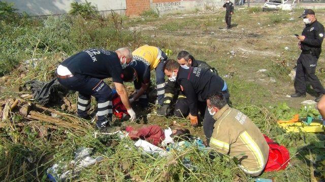 Bursa'da akıl almaz olay: Otların arasında yatan genç toprağa gömüldü