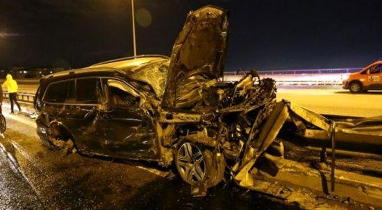 Çaykur Rizespor'un eski CEO'su Aykut Ferah lüks aracıyla kaza yapıp yaralandı