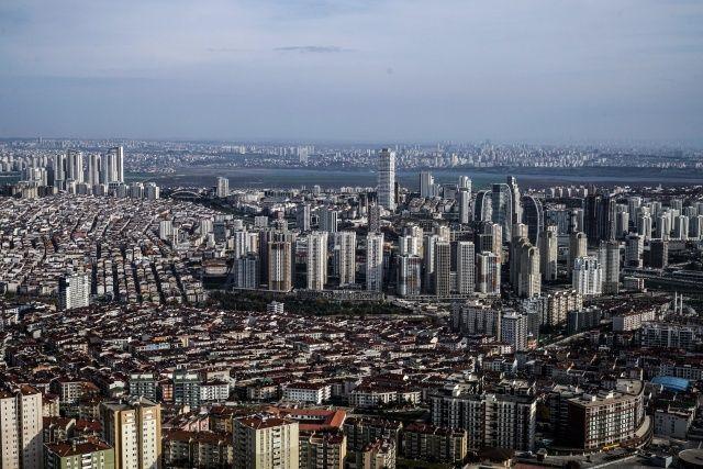 Polis helikopteriyle kısıtlama denetiminde İstanbul'un eşsiz manzarası görüntülendi
