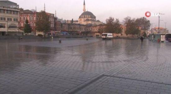 Hafta sonu kısıtlamasında ilk gün: Sokaklar bomboş kaldı