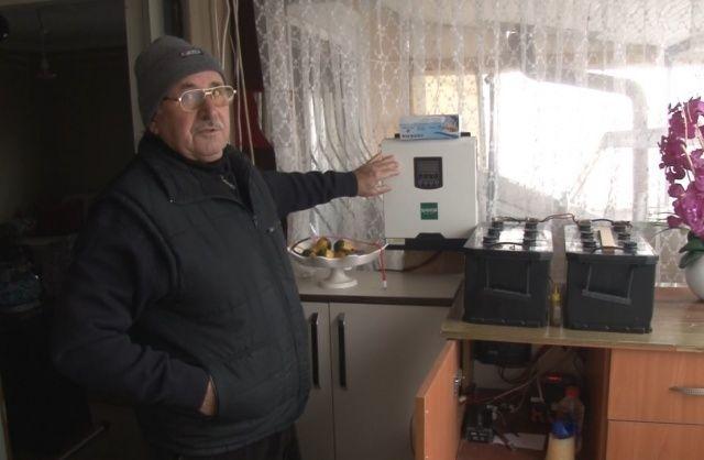 Kurduğu sistemle 10 yıldır elektriğe tek kuruş para vermiyor