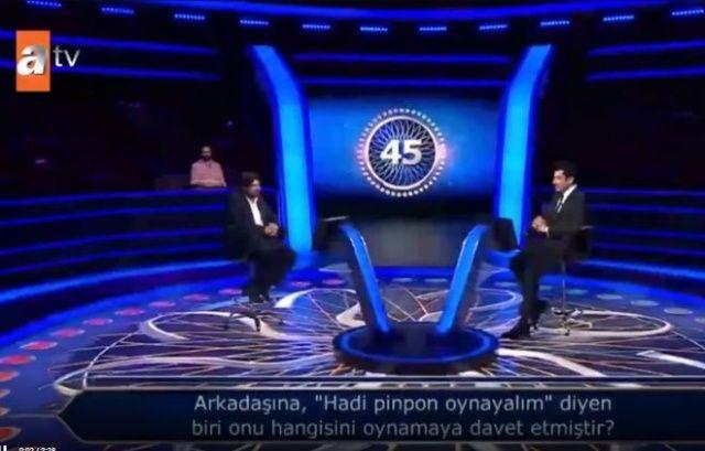 Kim Milyoner Olmak İster'e katılan yarışmacı Kenan İmirzalıoğlu'nu gülme krizine soktu