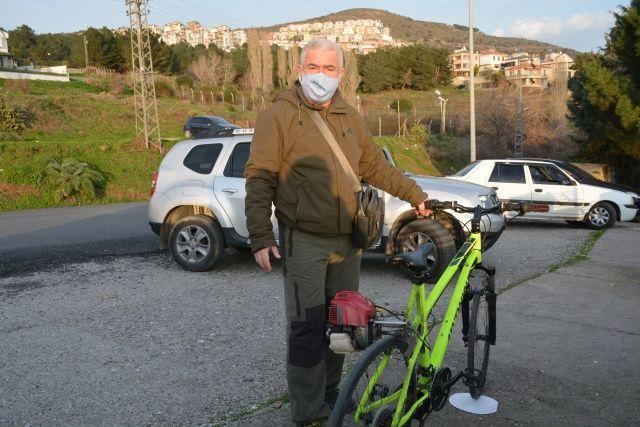 Pandemide toplu taşımayı kullanmak istemedi, bisikletine motor taktı