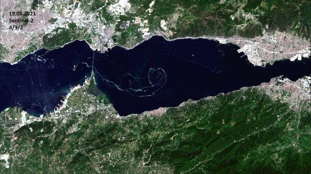 Müsilaj uzaydan böyle görüntülendi! 10 günde 3'e katlandı