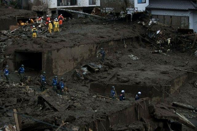 Japonya'daki heyelan felaketinde ölenlerin sayısı 7'ye yükseldi