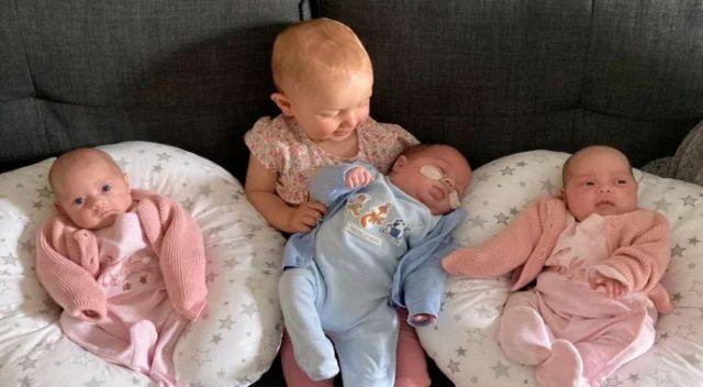 Bir senede 4 bebek doğurdu ama dördüz değil