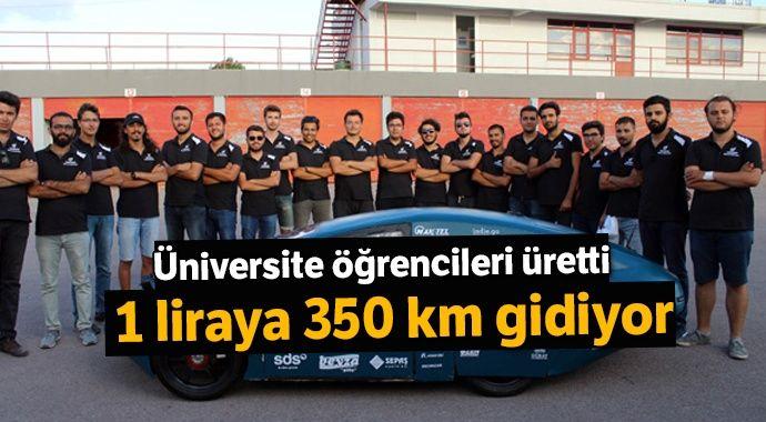 1 TL ile 350 kilometre yol giden elektrikli otomobil ürettiler