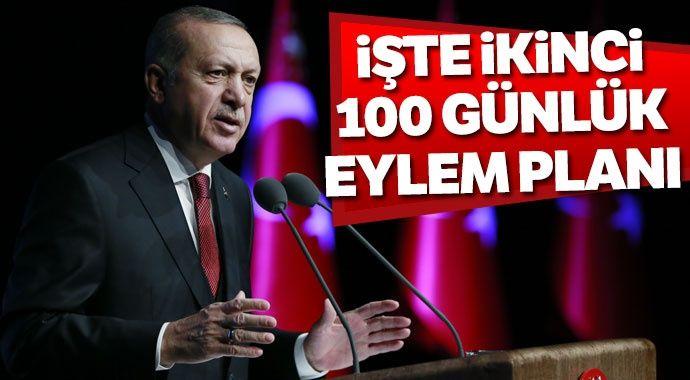 Cumhurbaşkanı Erdoğan 'İkinci 100 Günlük Eylem Planı'nı açıkladı
