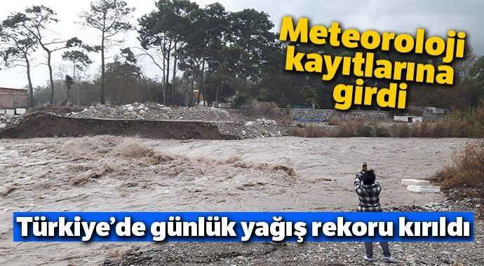 Meteoroloji kayıtlarına girdi... Türkiye'de günlük yağış rekoru kırıldı