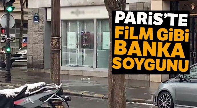 Paris'te film gibi banka soygunu