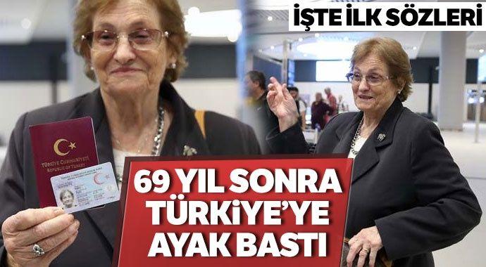 69 Yıldır Vatan Hasreti çeken Raşel Kazes Türkiye'de