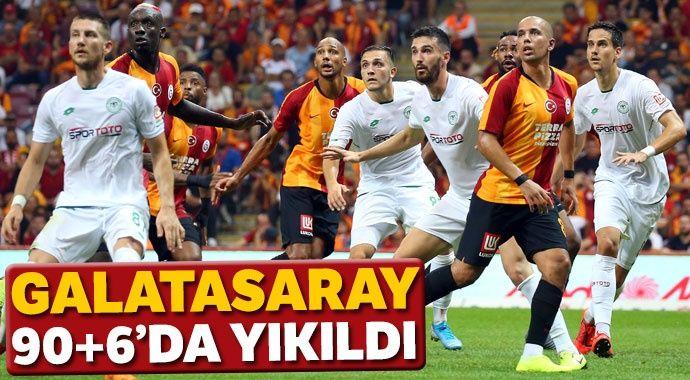 Galatasaray 90+6'da yıkıldı! (Galatasaray 1-1 Konyaspor)