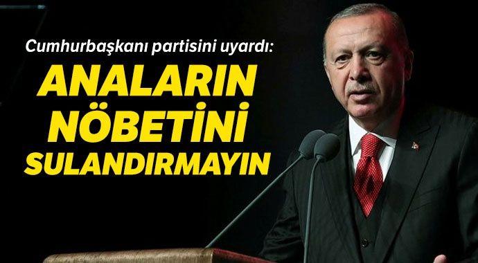 Cumhurbaşkanı Erdoğan: Anaların nöbetini sulandırmayın