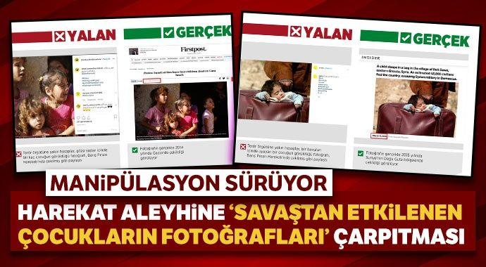 Harekat aleyhine 'savaştan etkilenen çocukların' fotoğraflarıyla manipülasyon