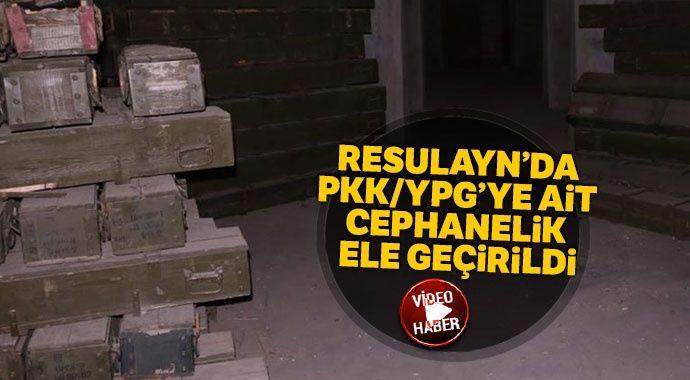 Resulayn'da PKK/YPG'ye ait cephanelik ele geçirildi