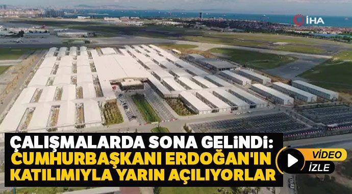 Çalışmalarda sona gelindi: Cumhurbaşkanı Erdoğan'ın katılımıyla yarın açılıyorlar