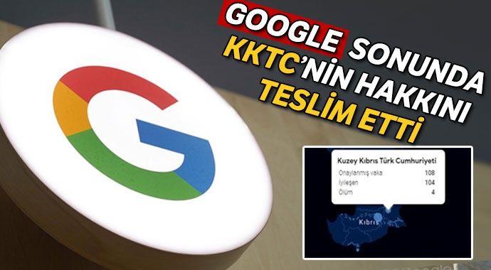Google KKTC'yi tanıdı