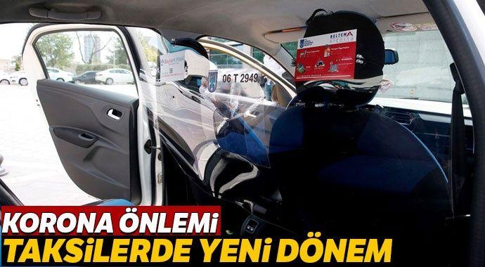 Ankara taksilerine şeffaf panel