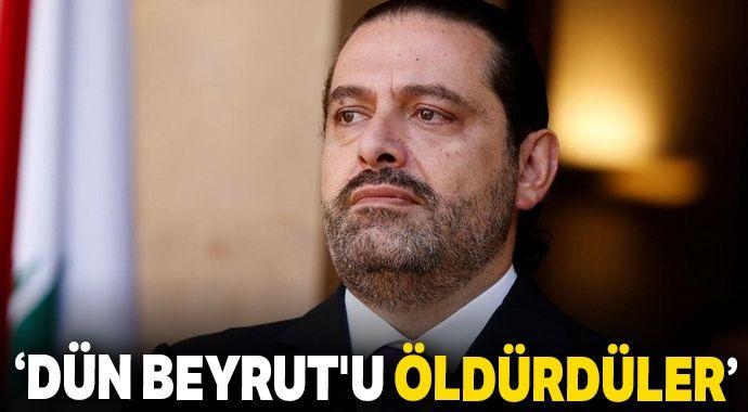 Eski Başbakan Saad Hariri: 'Dün Beyrut'u öldürdüler'