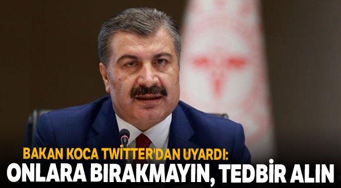 Sağlık Bakanı Koca Twitter'dan uyardı: Covid-19'la mücadeleyi hastalığa yakalananlara bırakmayın
