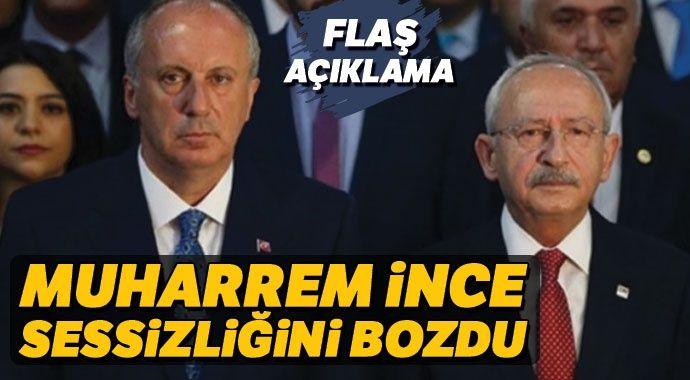 Yeni parti iddialarının ardından Muharrem İnce'den ilk açıklama!