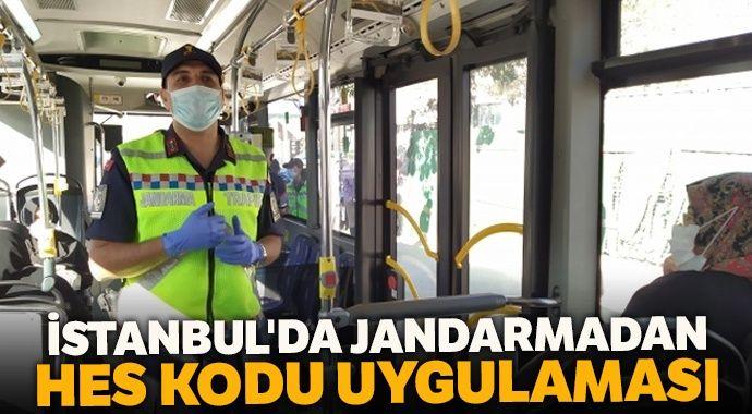 İstanbul'da jandarmadan HES Kodu Uygulaması