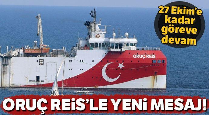 Oruç Reis için Doğu Akdeniz'deki NAVTEX 27 Ekim'e kadar uzatıldı