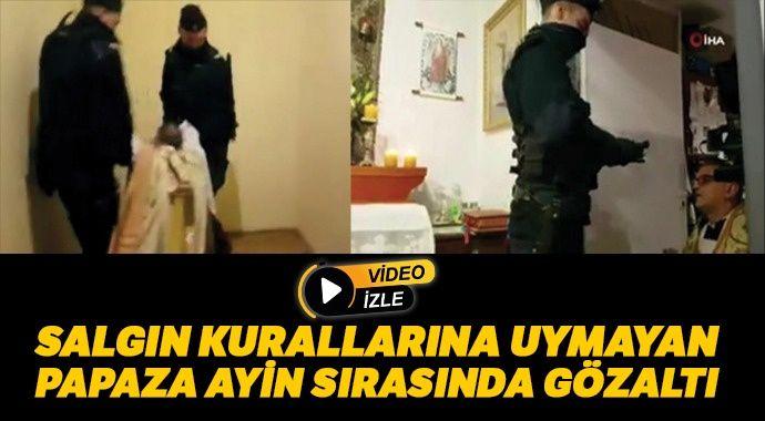 Polonya polisi ayini kesip papazı gözaltına aldı