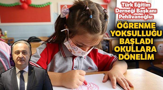 Türk Eğitim Derneği'nden 'okula dönelim' çağrısı