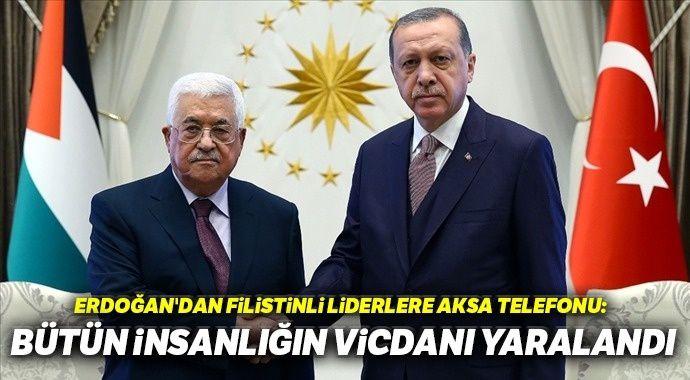 Erdoğan, Abbas ve Heniyye ile telefonda görüştü
