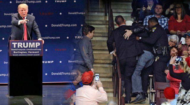 Trump başörtülü kadını salondan attırdı