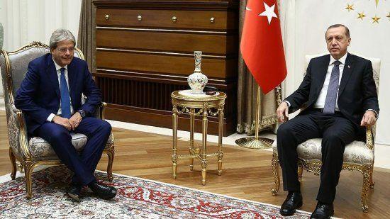 Cumhurbaşkanı Erdoğan İtalya Dışişleri Bakanını kabul etti