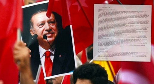 Almanya'da yaşayan Türklere çirkin mektup!