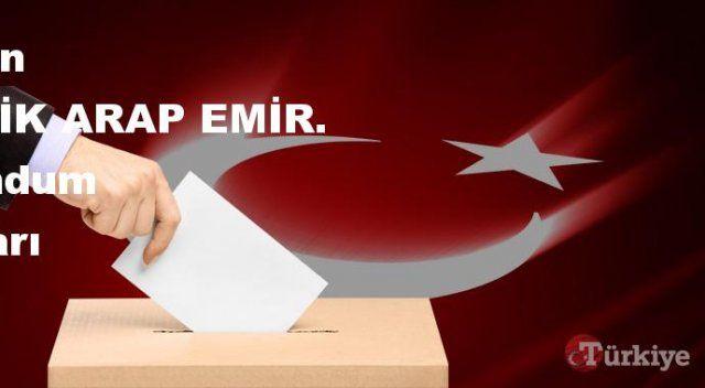 BİRLEŞİK ARAP EMİR. 16 Nisan Referandum sonuçları | BİRLEŞİK ARAP EMİR. referandumda Evet mi Hayır mı dedi?