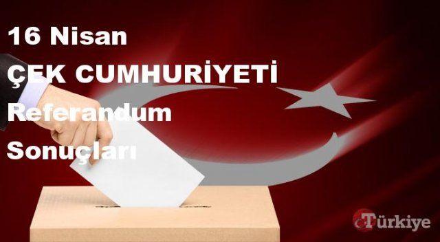 ÇEK CUMHURİYETİ 16 Nisan Referandum sonuçları | ÇEK CUMHURİYETİ referandumda Evet mi Hayır mı dedi?