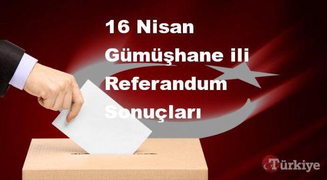 Gümüşhane 16 Nisan Referandum sonuçları | Gümüşhane referandumda Evet mi Hayır mı dedi?