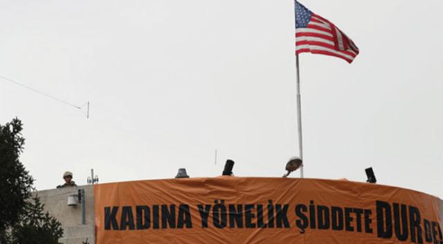 Ankara'da ABD Büyükelçiliği önünde gösteri