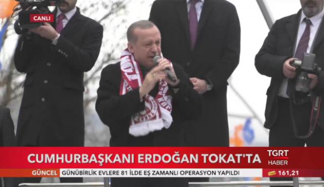Cumhurbaşkanı Erdoğan Tokat'ta vatandaşlara seslendi