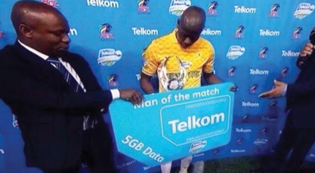 Güney Afrika'da maçın adamına internet paketi hediyesi