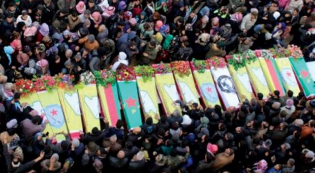 Image result for YPG cenaze töreni