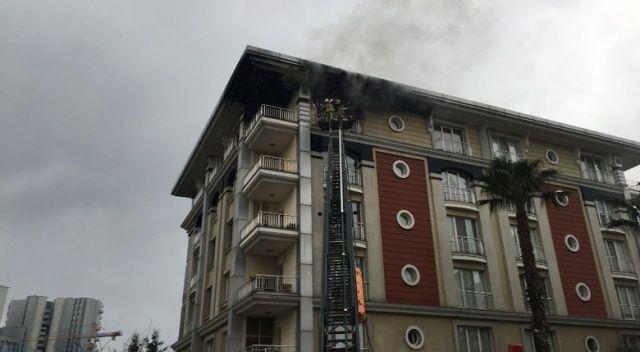 Ataköy'deki lüks binada yangın!