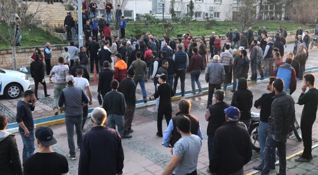 Adliye önünde 'katil' gerginliğine polis müdahalesi