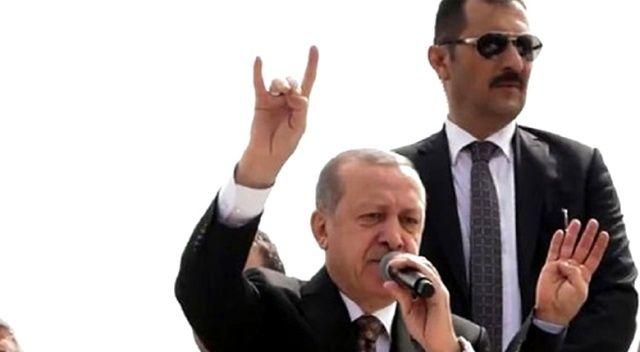Cumhurbaşkanı Erdoğan'dan 'bozkurt' selamı
