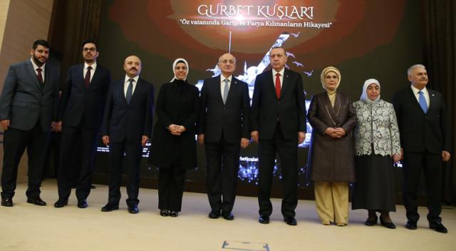 Cumhurbaşkanı Erdoğan, Gurbet Kuşları belgeselinin galasına katıldı