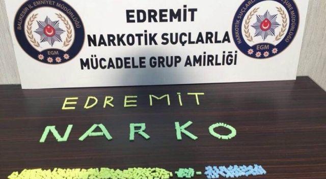 Edremit'teki uyuşturucu operasyonunda 3 kişi gözaltına alındı